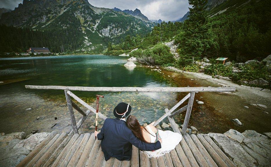 Sandra i Darek sesja w Tatrach