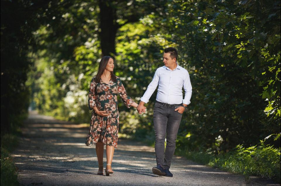 Sesja ciążowa – Ania i Wojtek